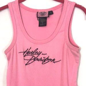Harley Davidson Pink Tank Top shirt Large